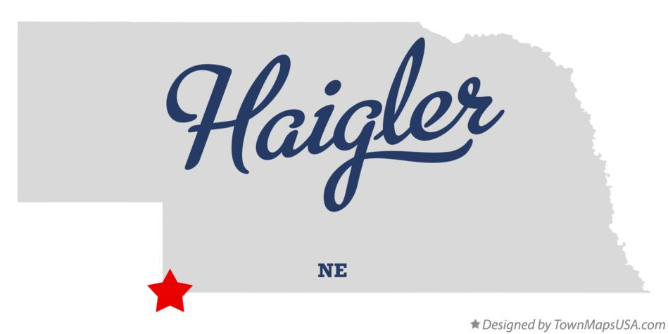 Map of Haigler Nebraska NE