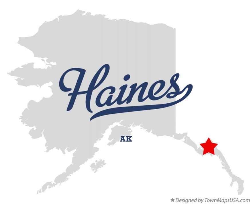 Map of Haines Alaska AK