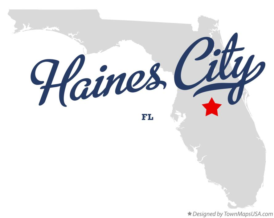 Map of Haines City Florida FL