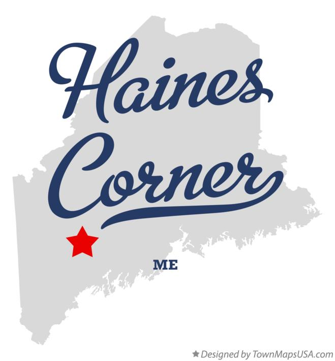 Map of Haines Corner Maine ME