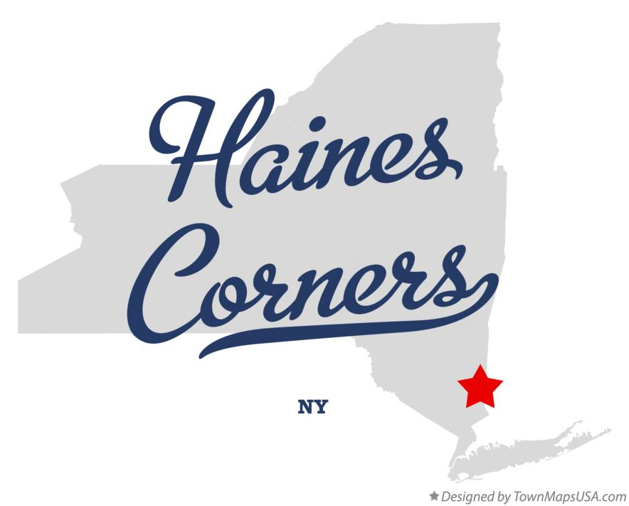 Map of Haines Corners New York NY