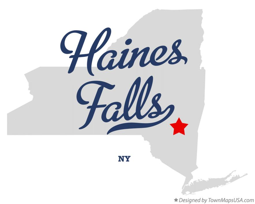Map of Haines Falls New York NY