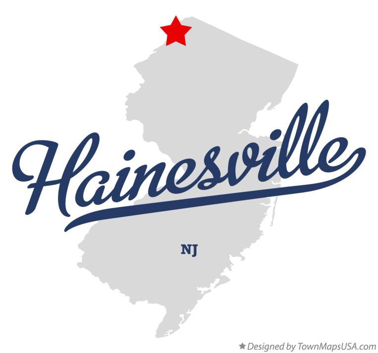 Map of Hainesville New Jersey NJ