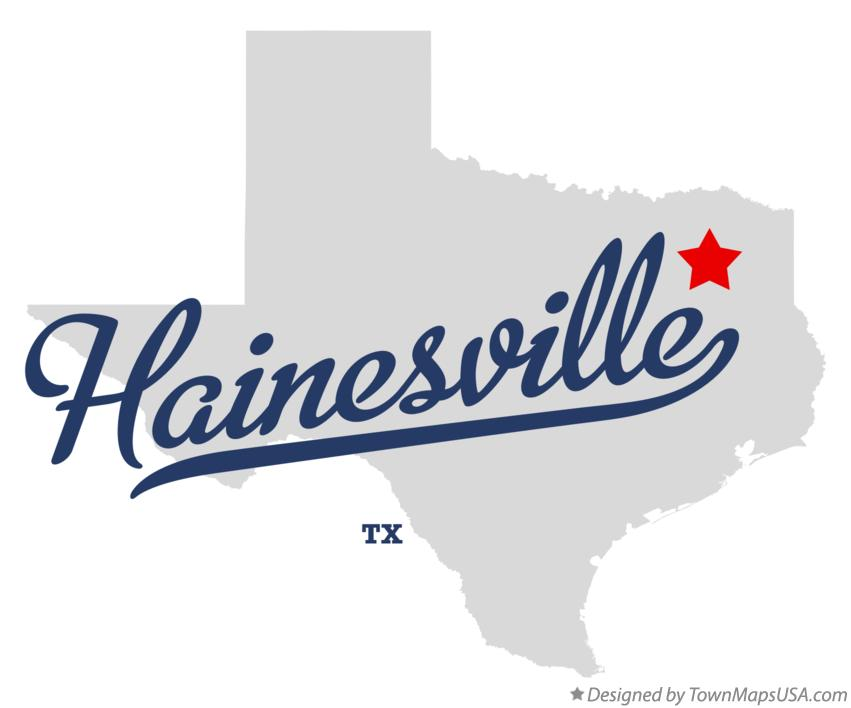 Map of Hainesville Texas TX