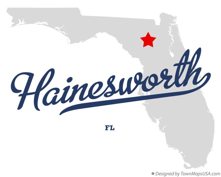 Map of Hainesworth Florida FL