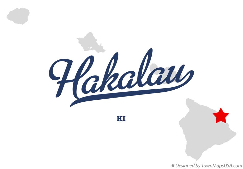 Map of Hakalau Hawaii HI