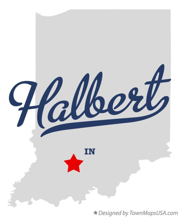 Map of Halbert Indiana IN