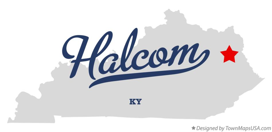 Map of Halcom Kentucky KY