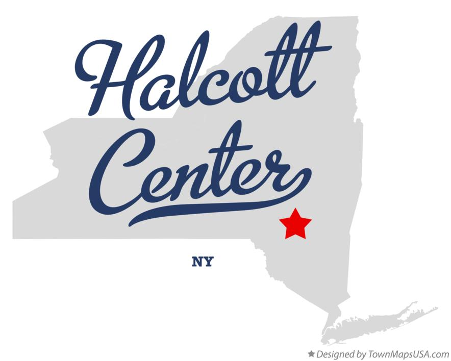 Map of Halcott Center New York NY