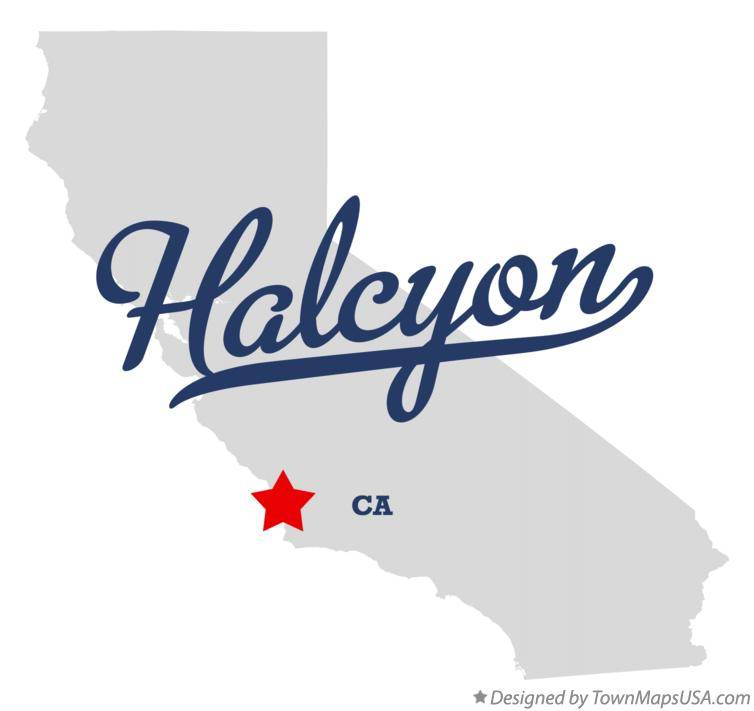Map of Halcyon California CA