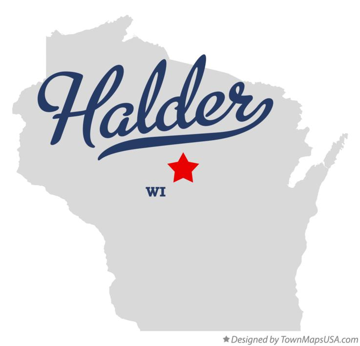 Map of Halder Wisconsin WI
