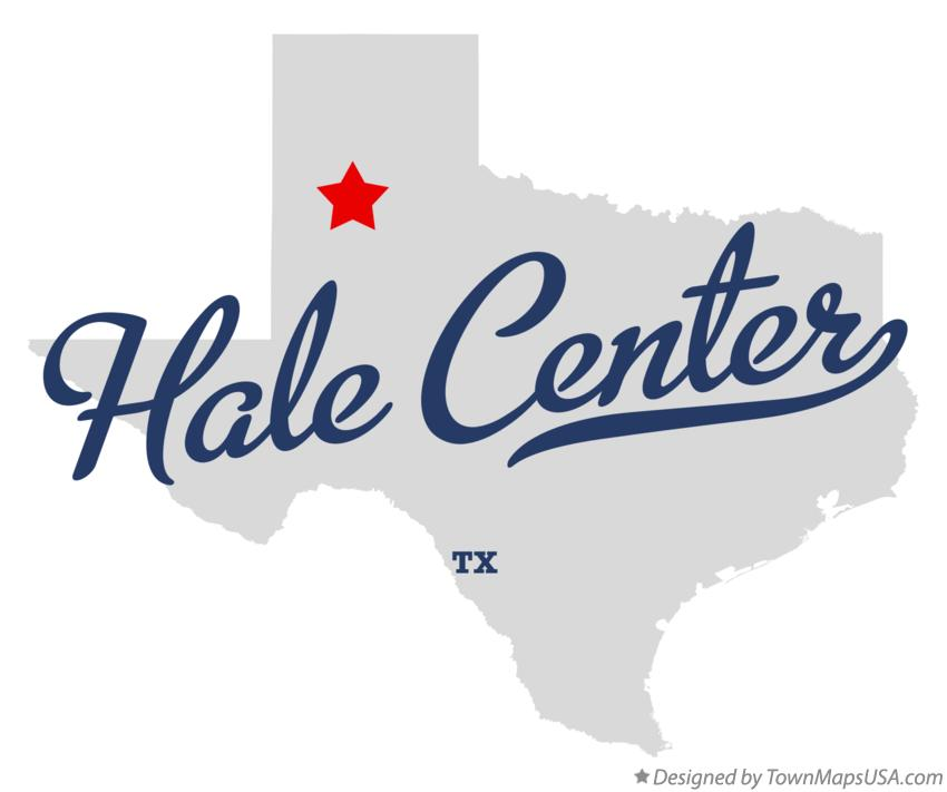 Map of Hale Center Texas TX