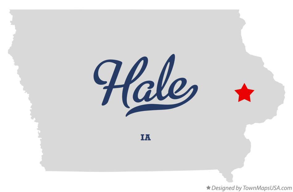 Map of Hale Iowa IA