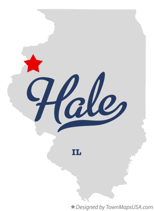 Map of Hale Illinois IL
