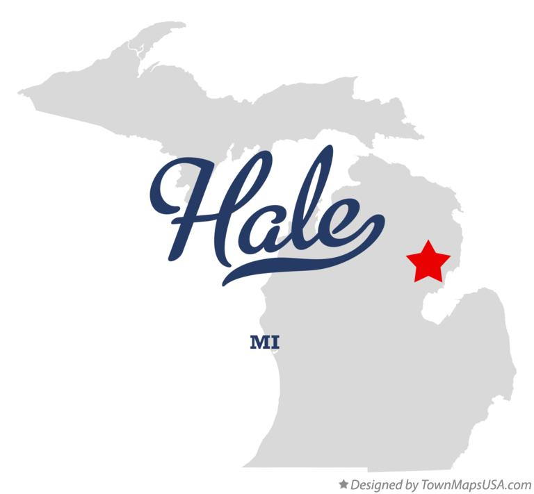 Map of Hale Michigan MI