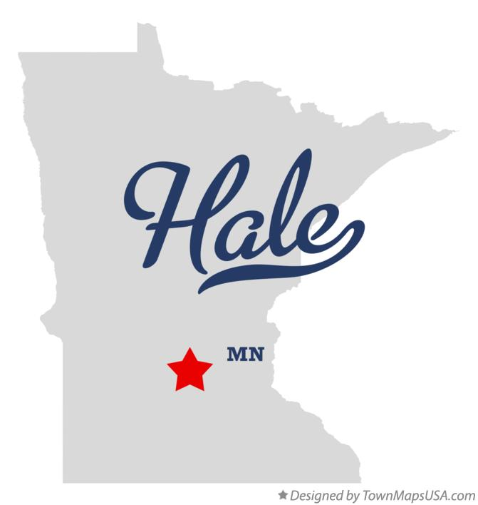 Map of Hale Minnesota MN