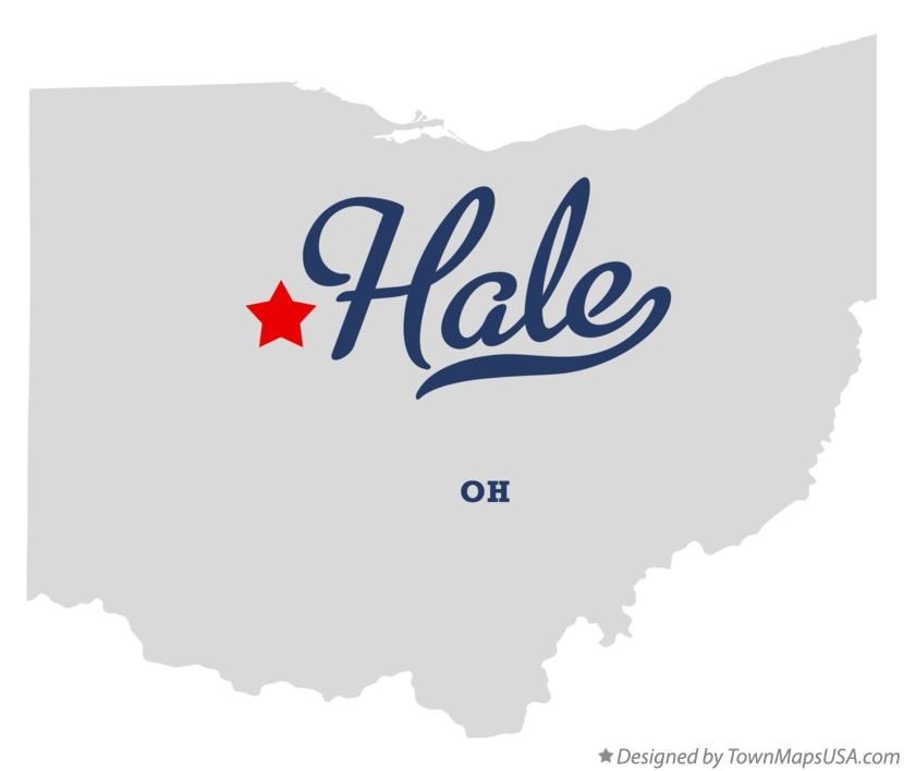 Map of Hale Ohio OH