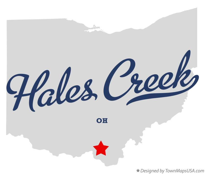 Map of Hales Creek Ohio OH