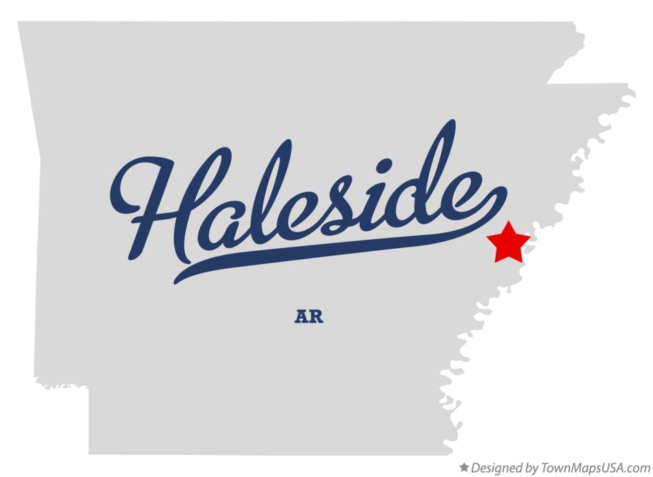 Map of Haleside Arkansas AR