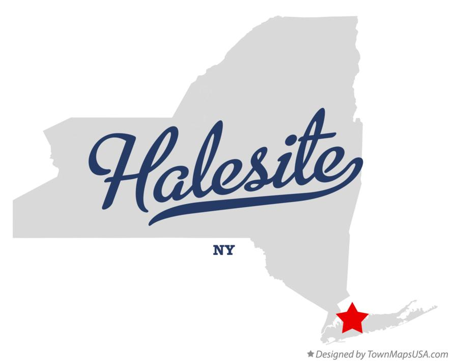 Map of Halesite New York NY