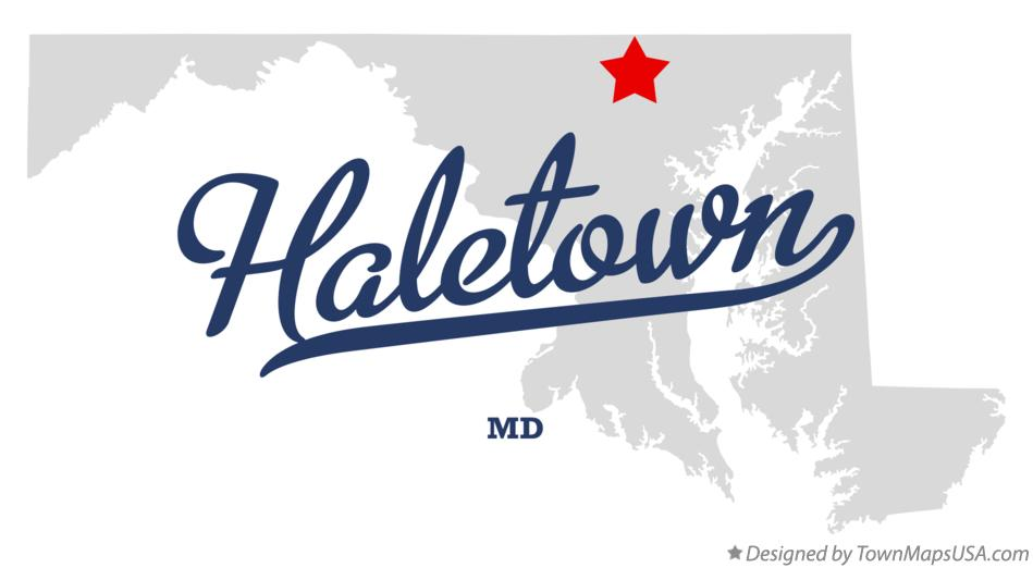 Map of Haletown Maryland MD