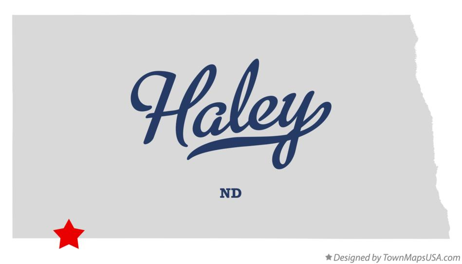 Map of Haley North Dakota ND