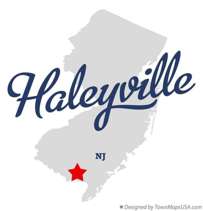 Map of Haleyville New Jersey NJ