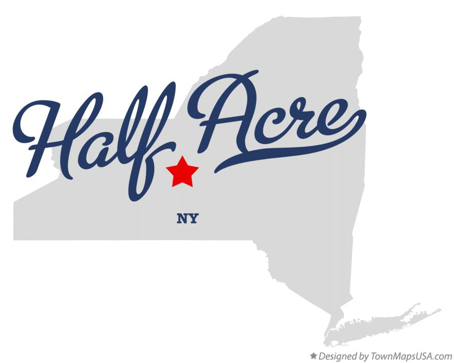 Map of Half Acre New York NY