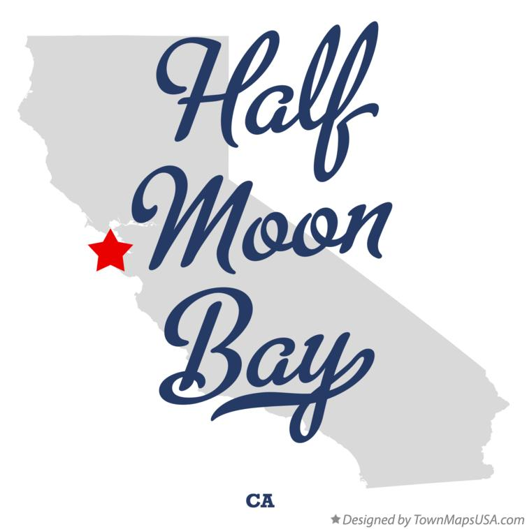 Map of Half Moon Bay CA California