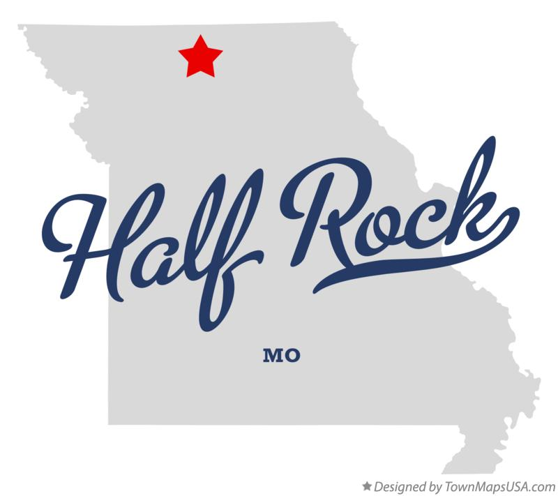 Map of Half Rock Missouri MO