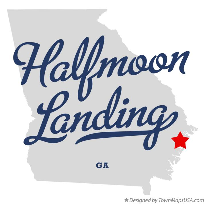 Map of Halfmoon Landing Georgia GA