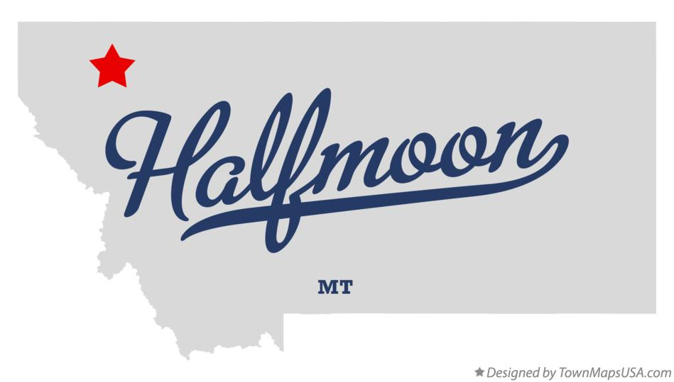 Map of Halfmoon Montana MT