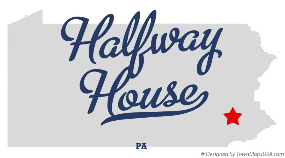 Map of Halfway House Pennsylvania PA