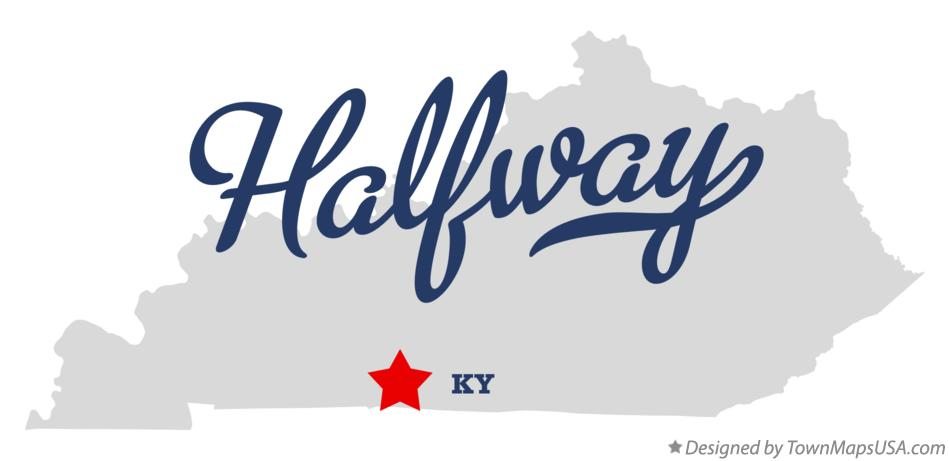 Map of Halfway Kentucky KY