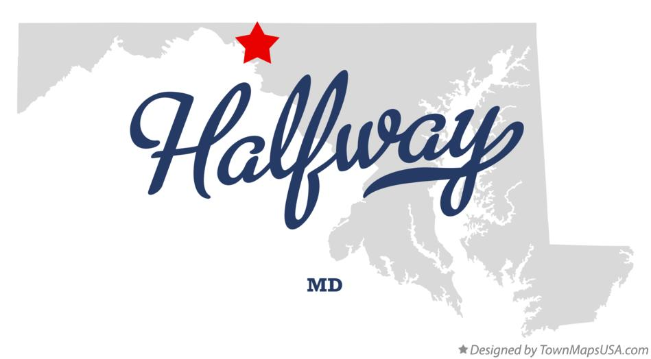 Map of Halfway Maryland MD