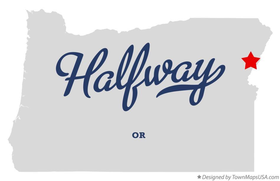 Halfway Oregon Map.Map Of Halfway Or Oregon