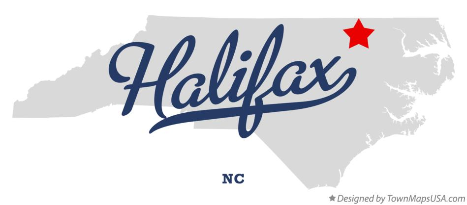 Map of Halifax North Carolina NC