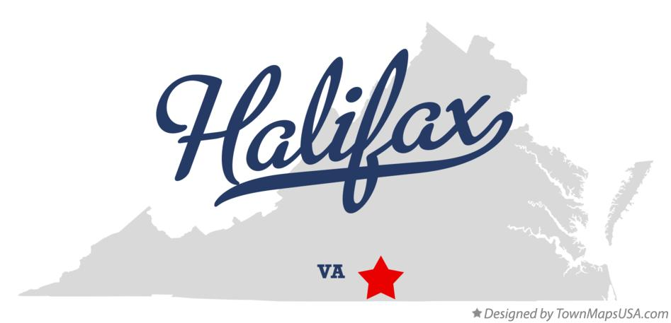 Map of Halifax Virginia VA
