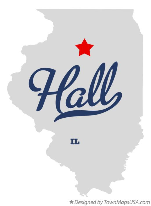 Map of Hall Illinois IL