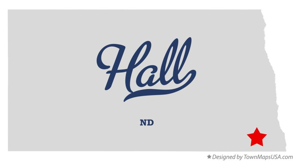 Map of Hall North Dakota ND