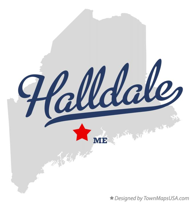 Map of Halldale Maine ME