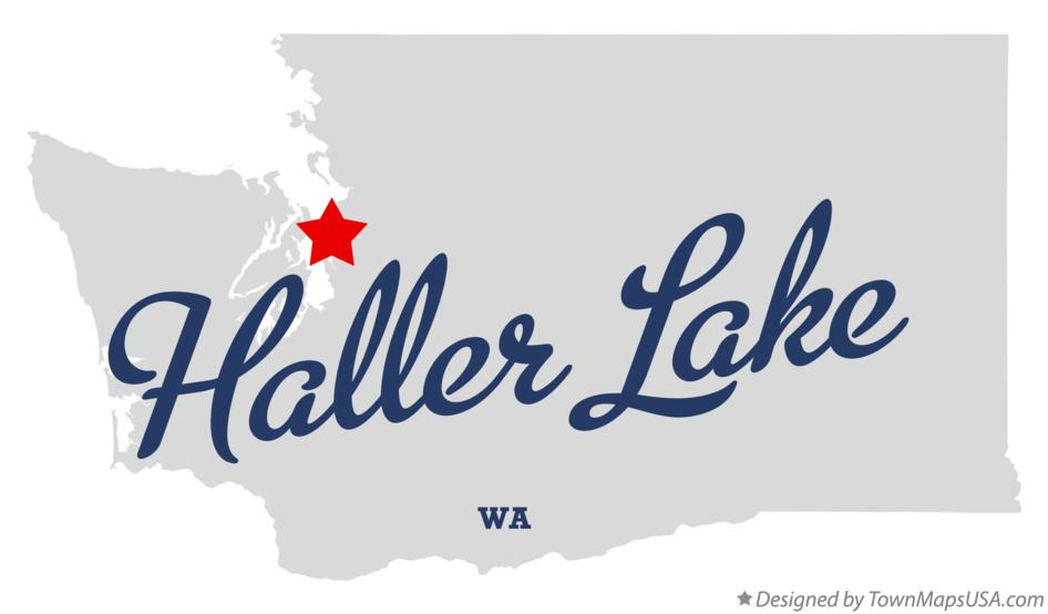 Map of Haller Lake Washington WA