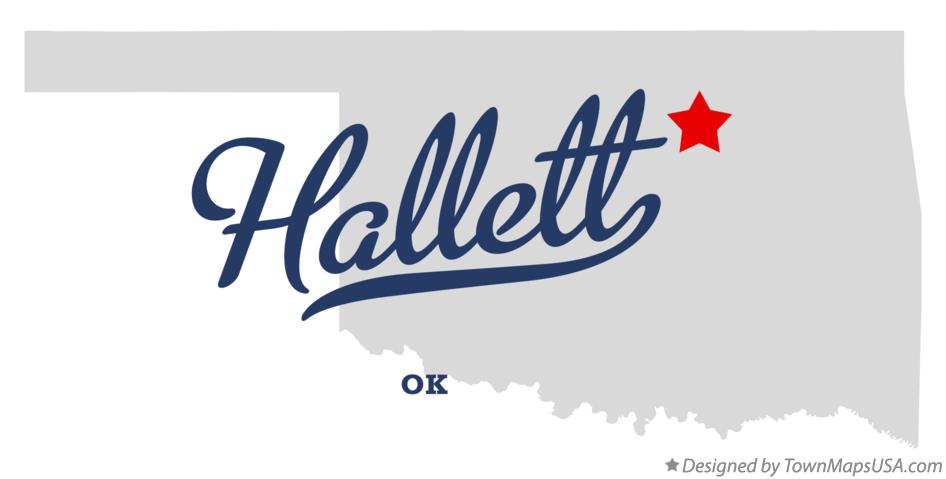 Map of Hallett Oklahoma OK