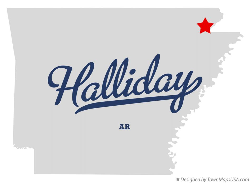 Map of Halliday Arkansas AR