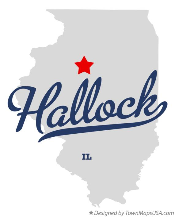 Map of Hallock Illinois IL