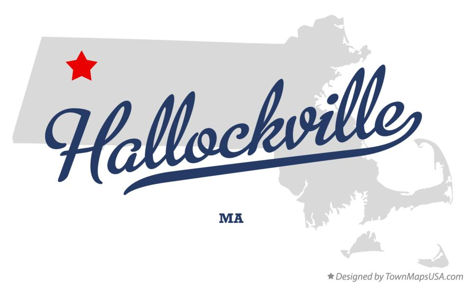 Map of Hallockville Massachusetts MA