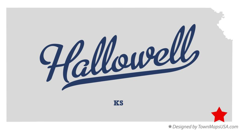 Map of Hallowell Kansas KS