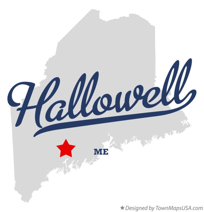Map of Hallowell Maine ME
