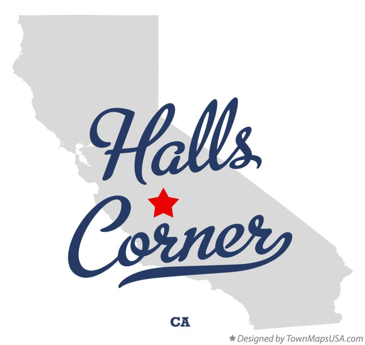Map of Halls Corner California CA