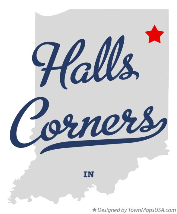 Map of Halls Corners Indiana IN